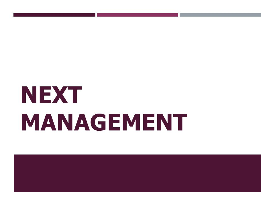 Next Management