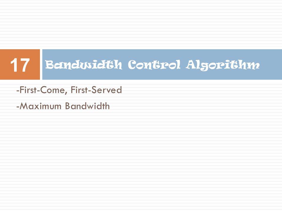 Bandwidth Control Algorithm