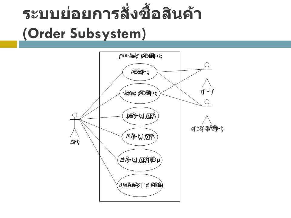 ระบบย่อยการสั่งซื้อสินค้า (Order Subsystem)