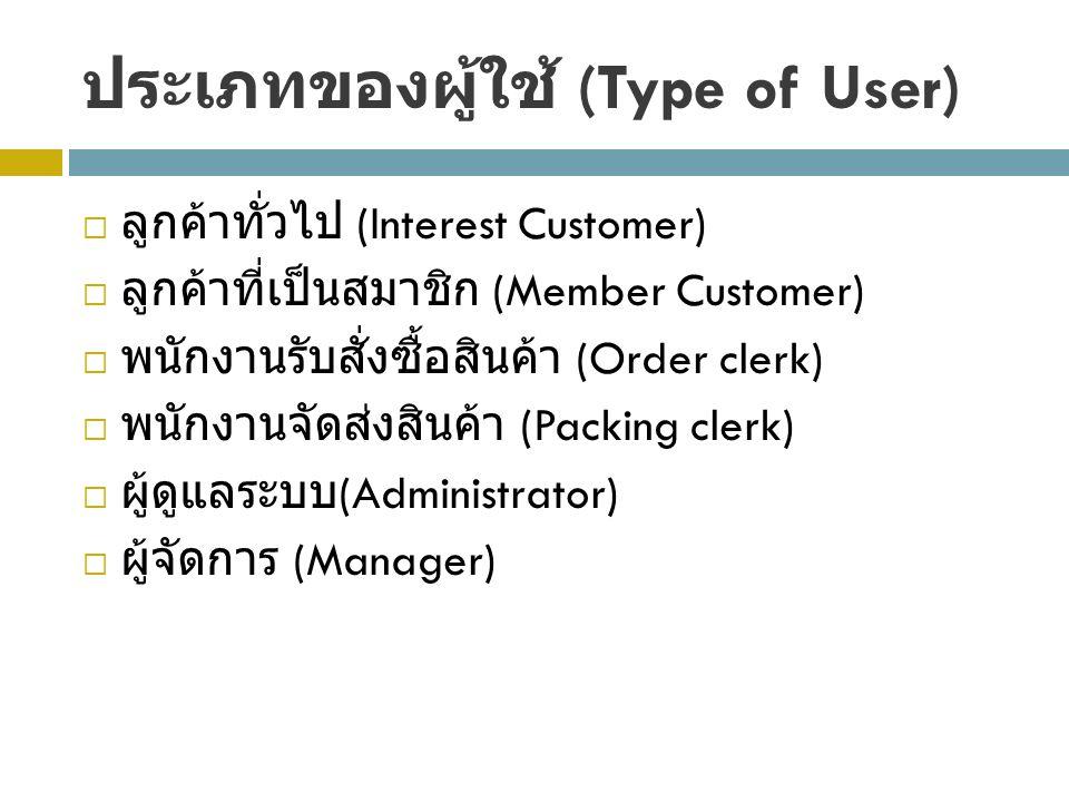 ประเภทของผู้ใช้ (Type of User)