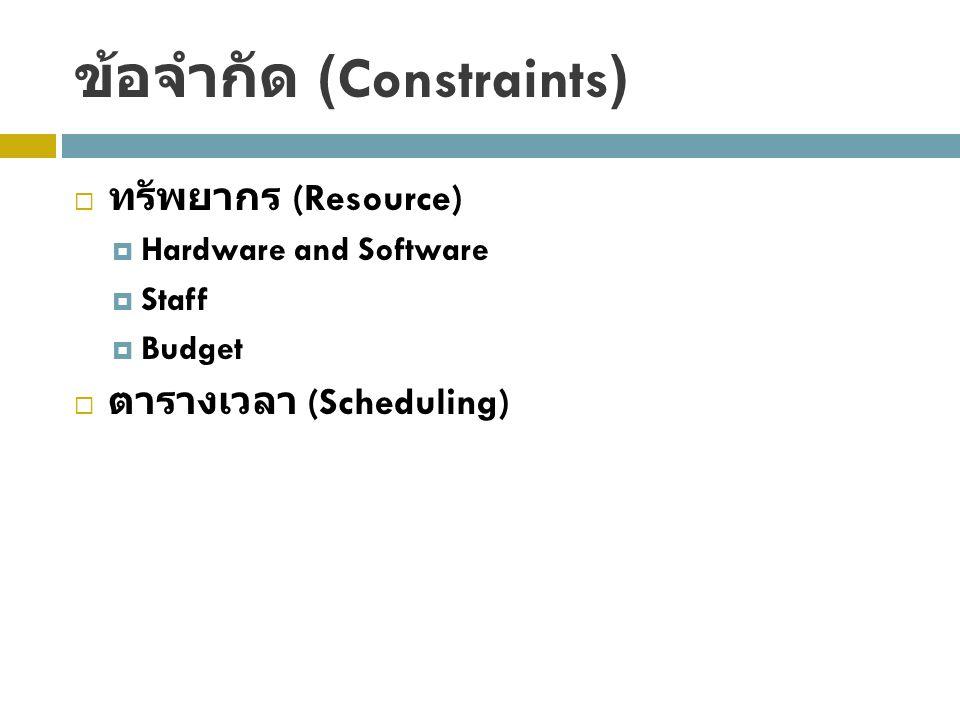 ข้อจำกัด (Constraints)