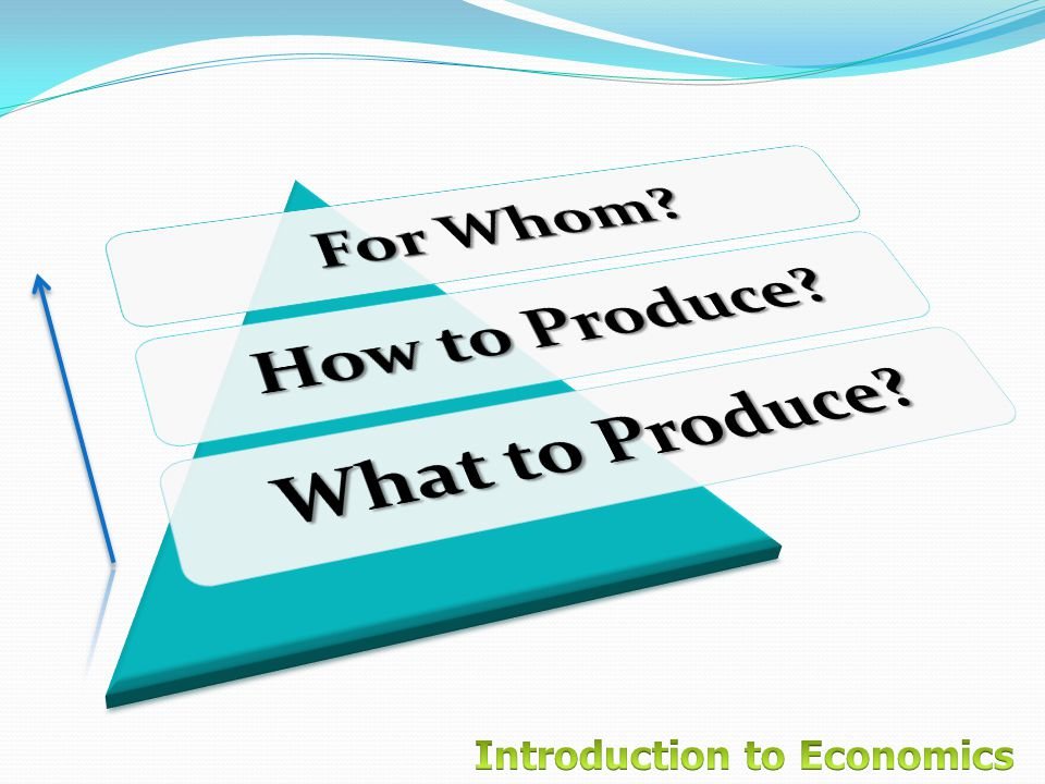 For Whom How to Produce What to Produce
