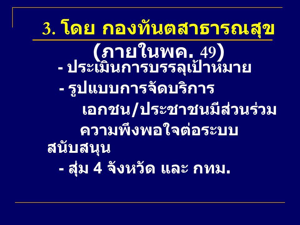 3. โดย กองทันตสาธารณสุข (ภายในพค. 49)