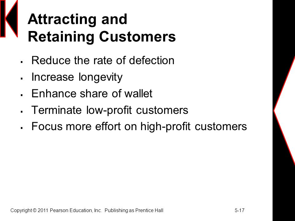 Attracting and Retaining Customers
