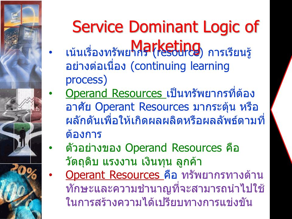 Service Dominant Logic of Marketing