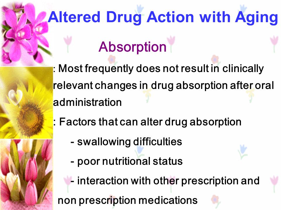 Altered Drug Action with Aging