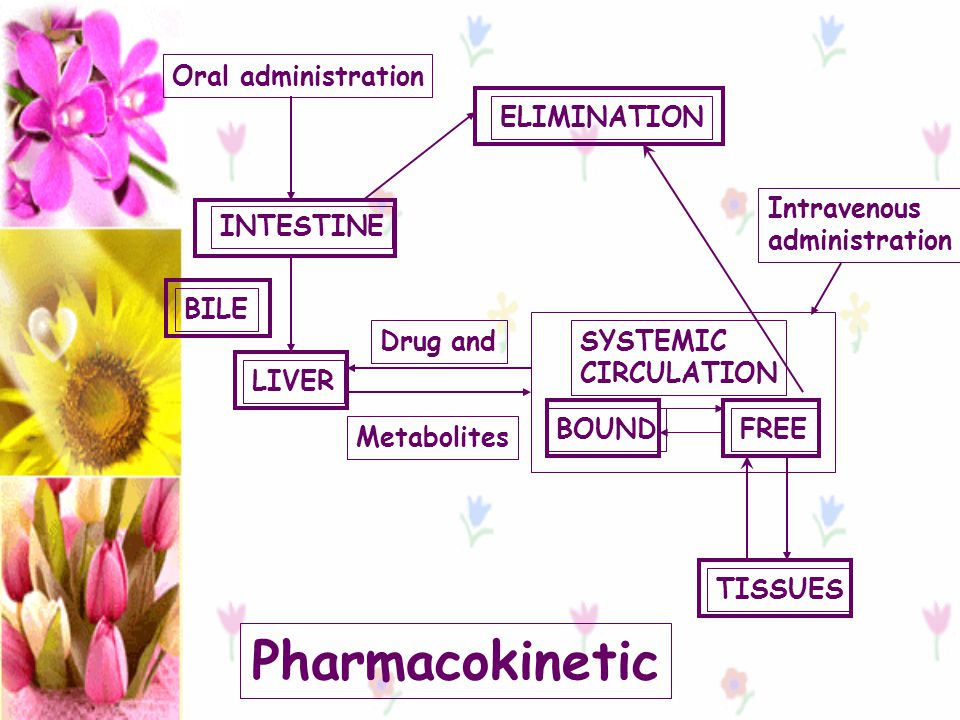 Pharmacokinetic Oral administration ELIMINATION Intravenous