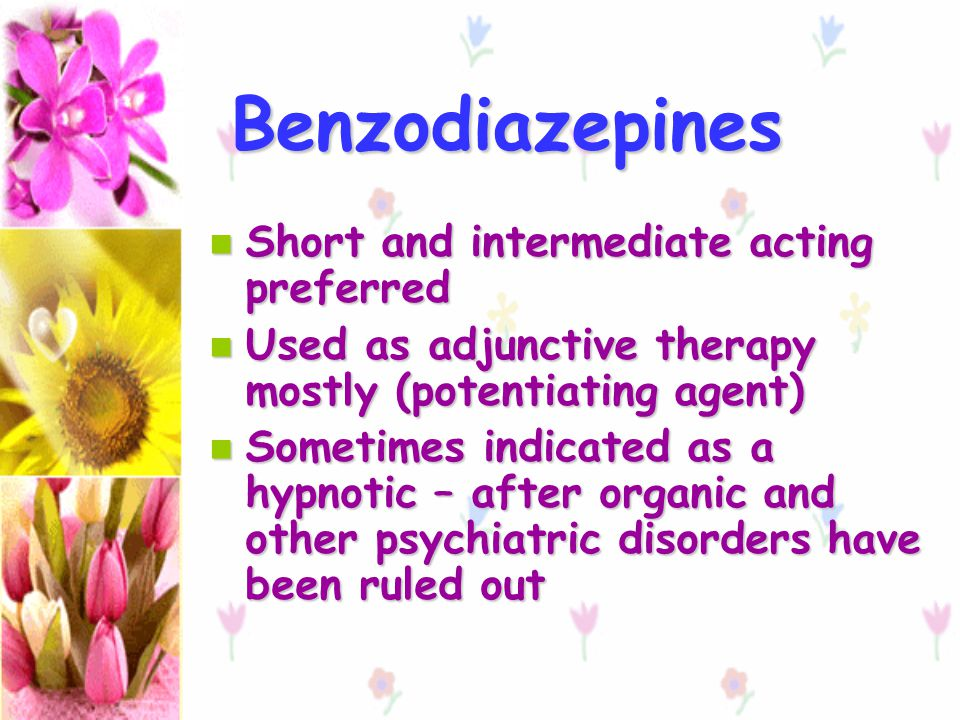 Benzodiazepines Short and intermediate acting preferred