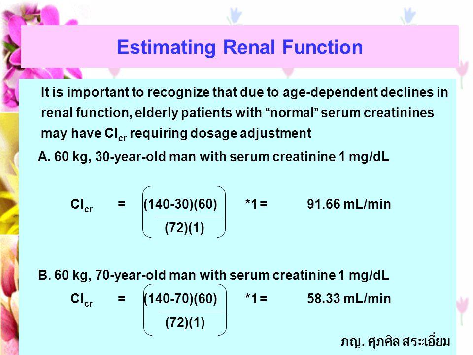 Estimating Renal Function