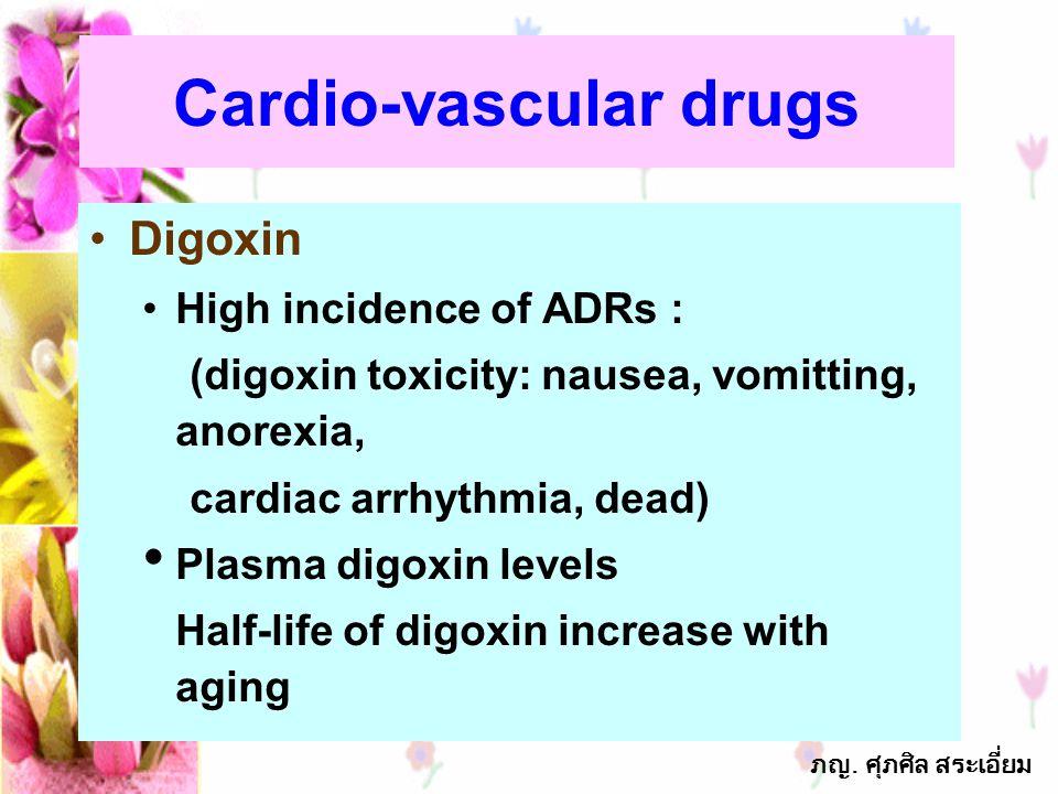 Cardio-vascular drugs