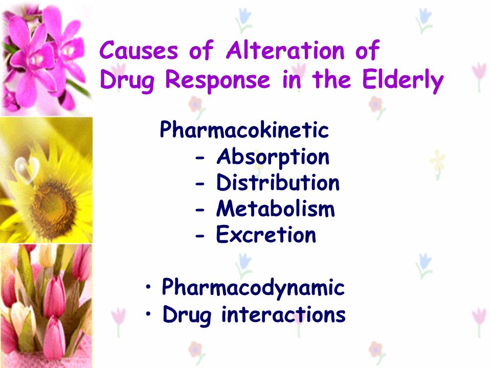 Causes of Alteration of Drug Response in the Elderly