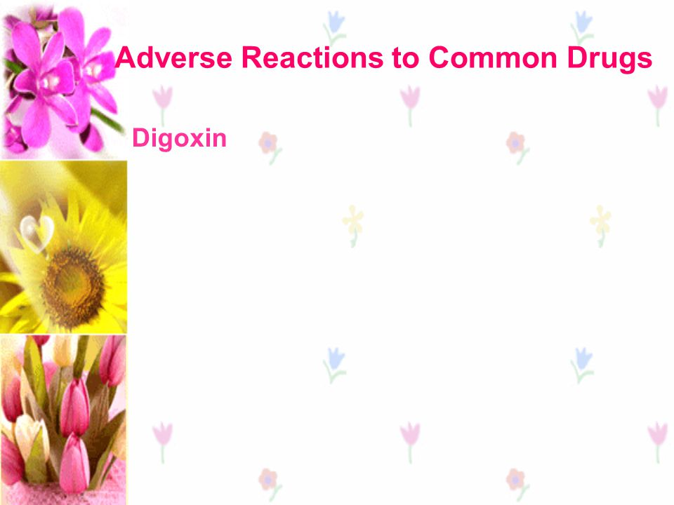 Adverse Reactions to Common Drugs