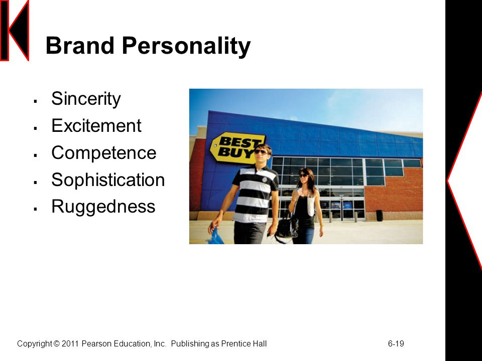 Brand Personality Sincerity Excitement Competence Sophistication