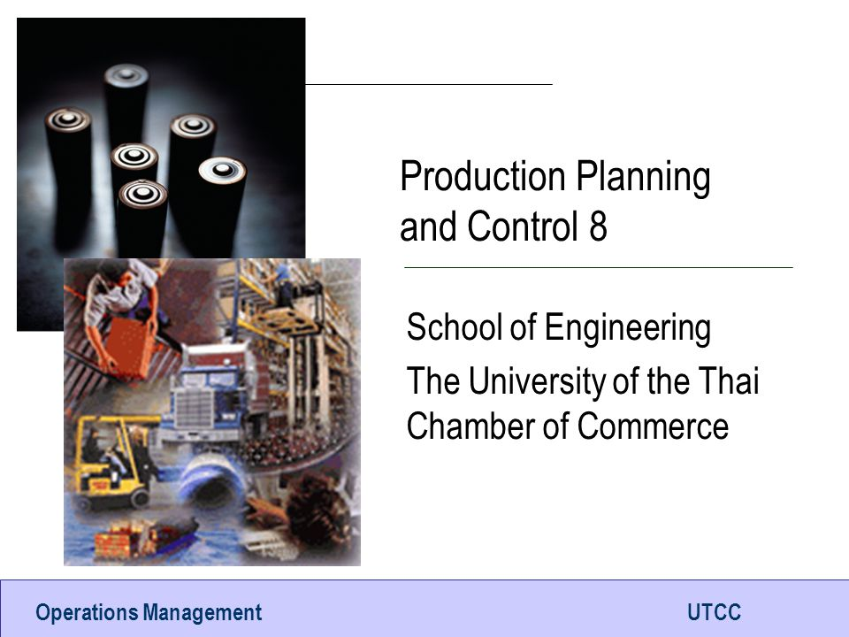 Production Planning and Control 8