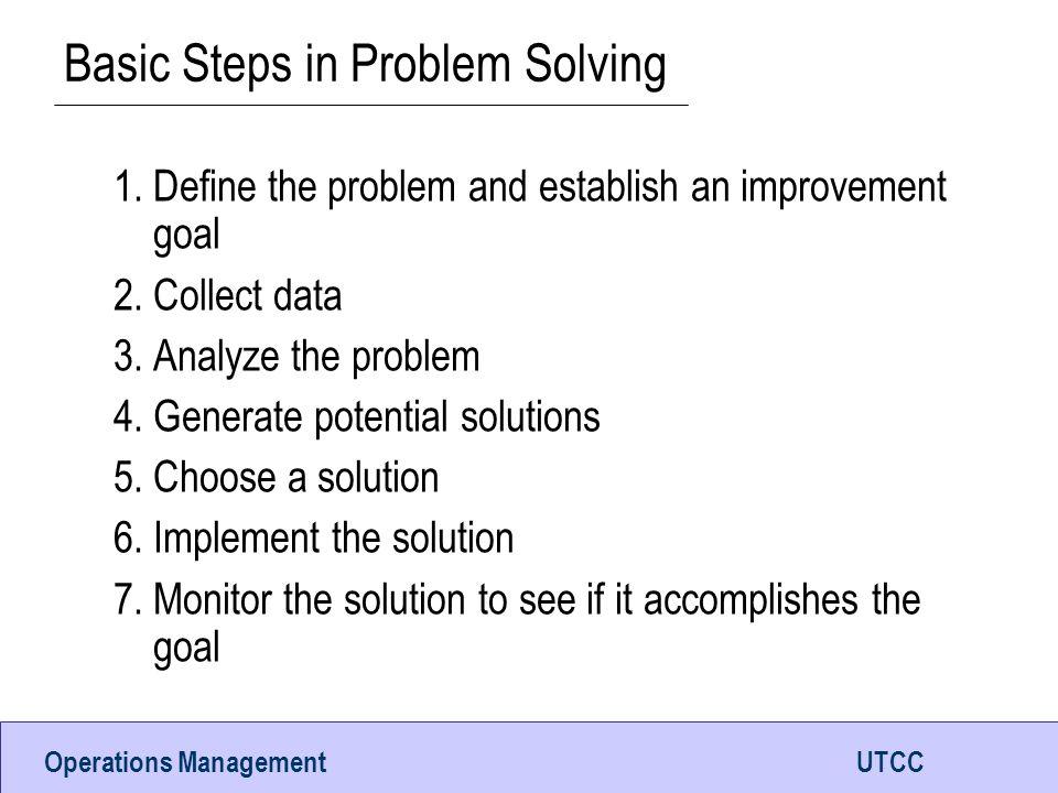 9 Step Problem Solving
