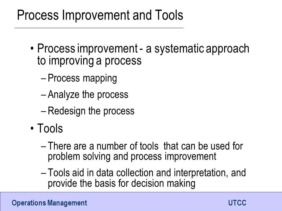 Process Improvement and Tools