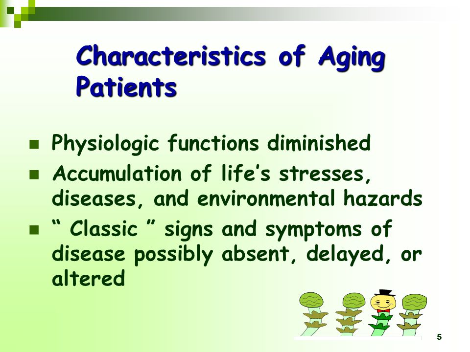Characteristics of Aging Patients