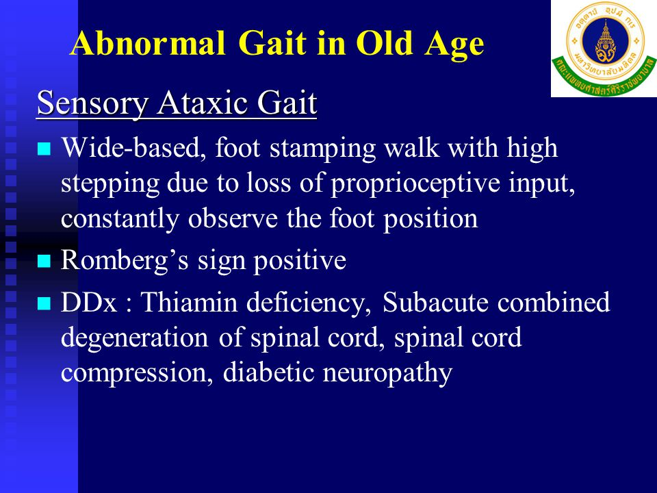 Abnormal Gait in Old Age