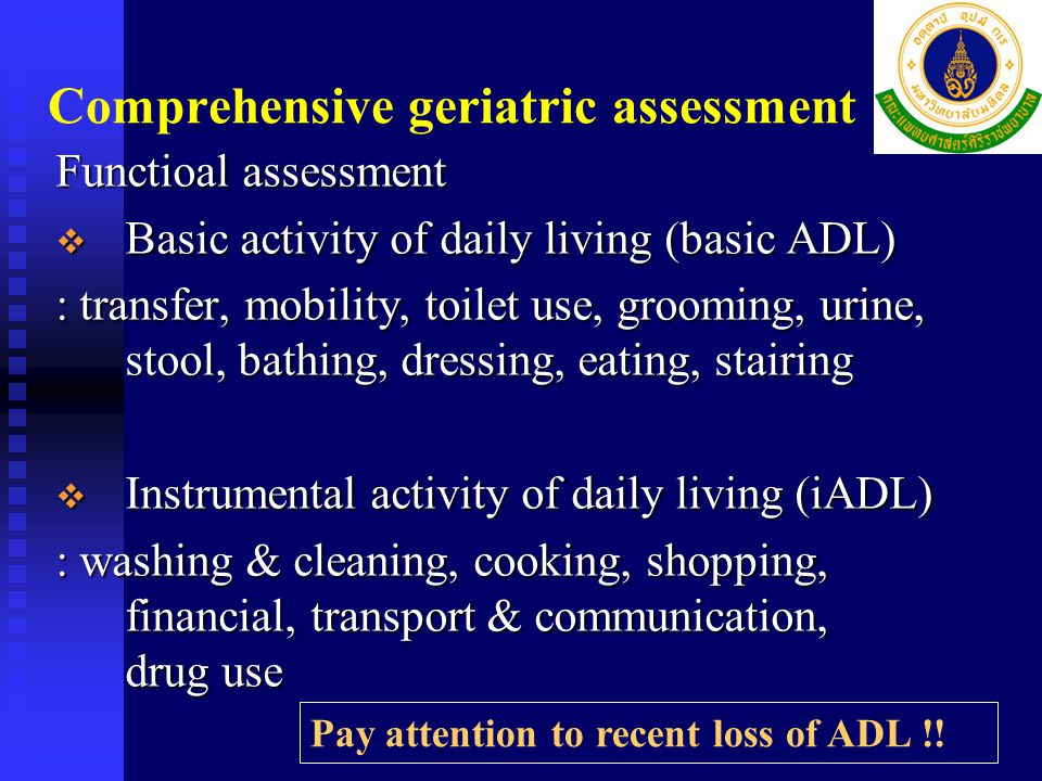 Comprehensive geriatric assessment
