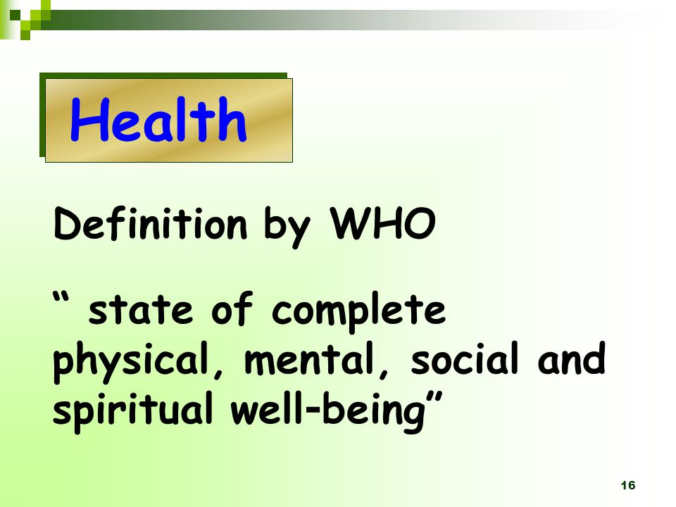 Health Definition by WHO