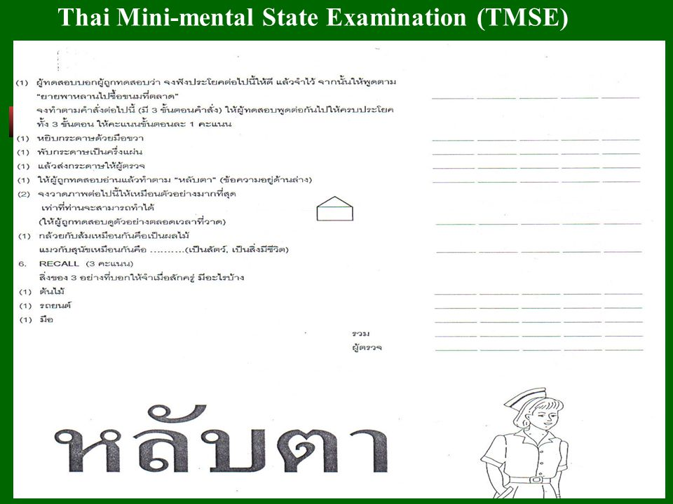 Thai Mini-mental State Examination (TMSE)