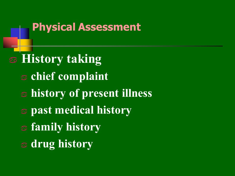 History taking chief complaint history of present illness