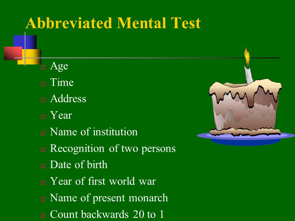 Abbreviated Mental Test