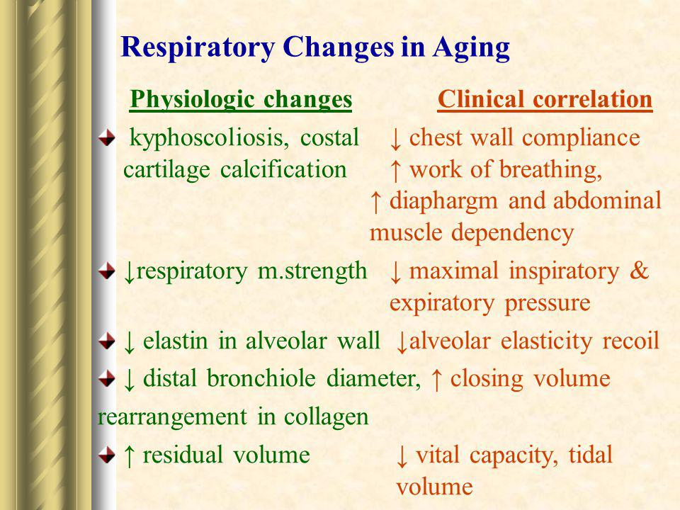 Respiratory Changes in Aging