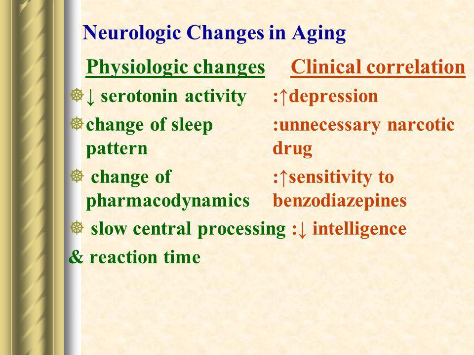 Neurologic Changes in Aging