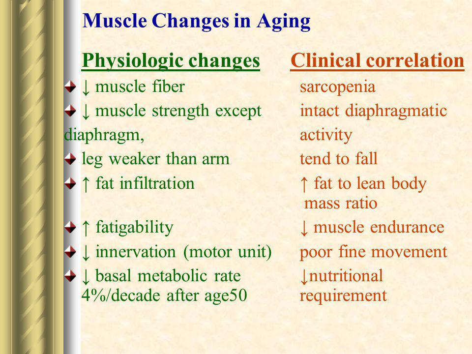 Muscle Changes in Aging