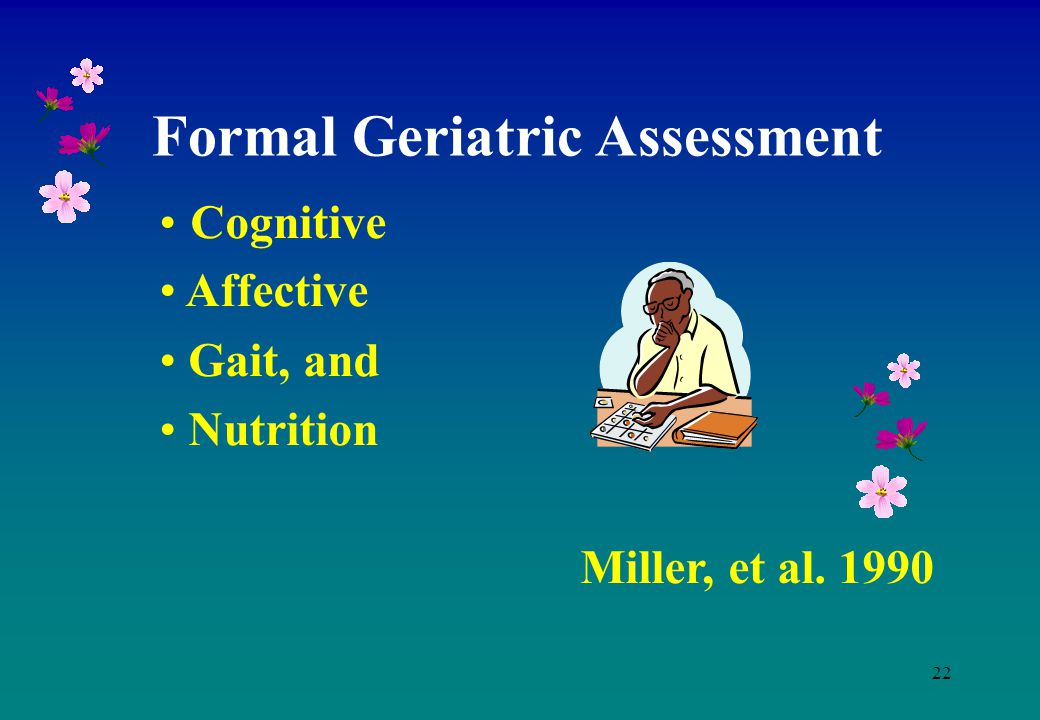 Formal Geriatric Assessment