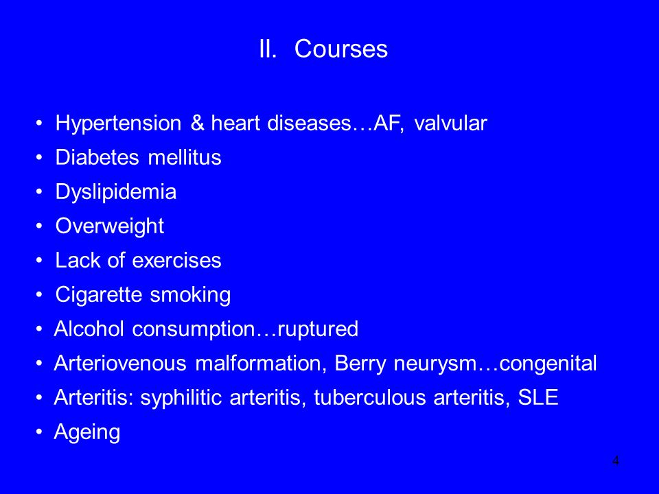 II. Courses Hypertension & heart diseases…AF, valvular