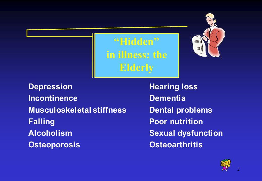 in illness: the Elderly