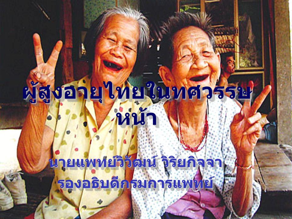 ผู้สูงอายุไทยในทศวรรษหน้า