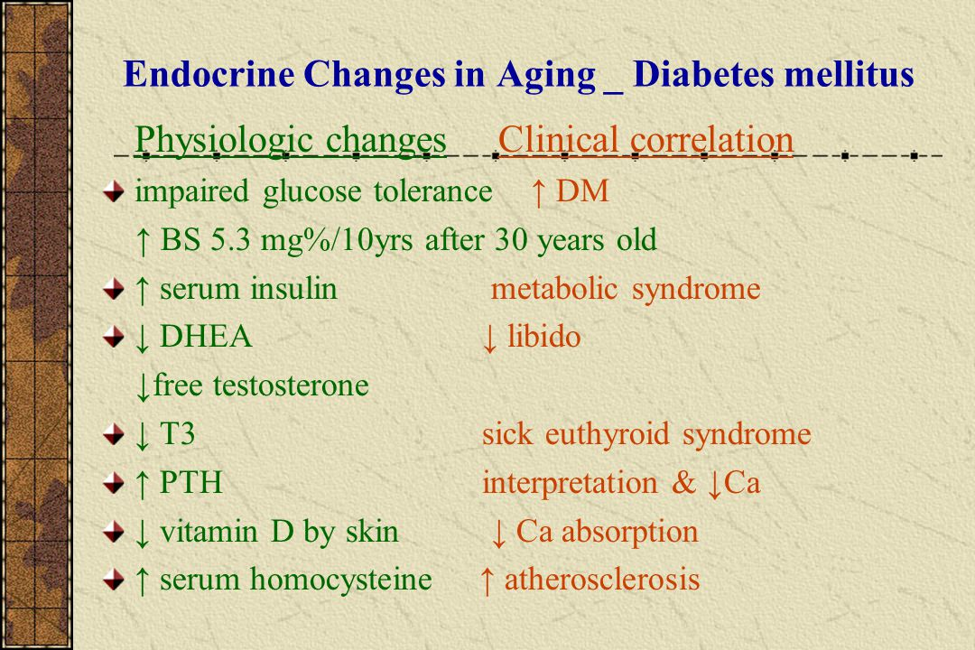 Endocrine Changes in Aging _ Diabetes mellitus