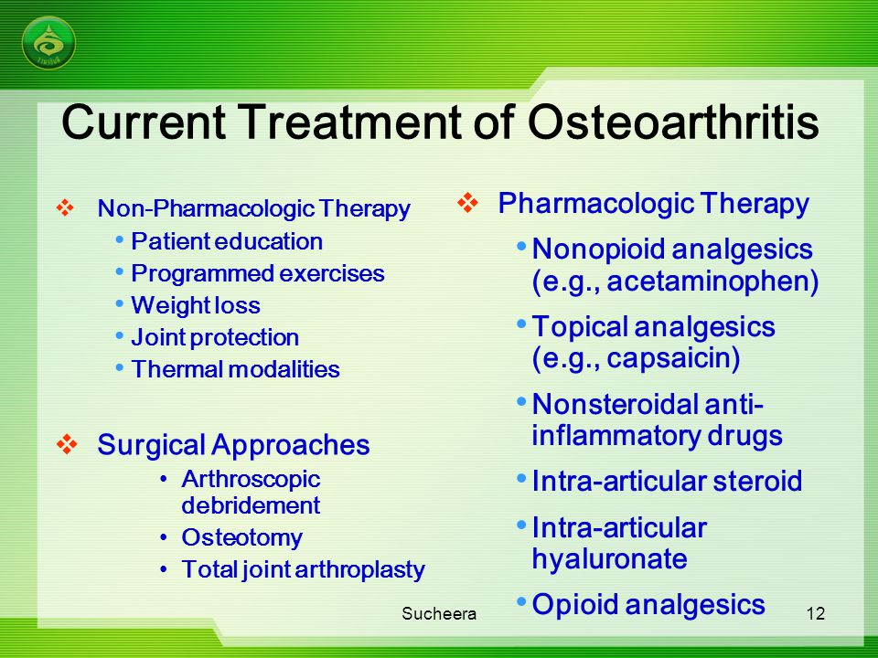 Current Treatment of Osteoarthritis