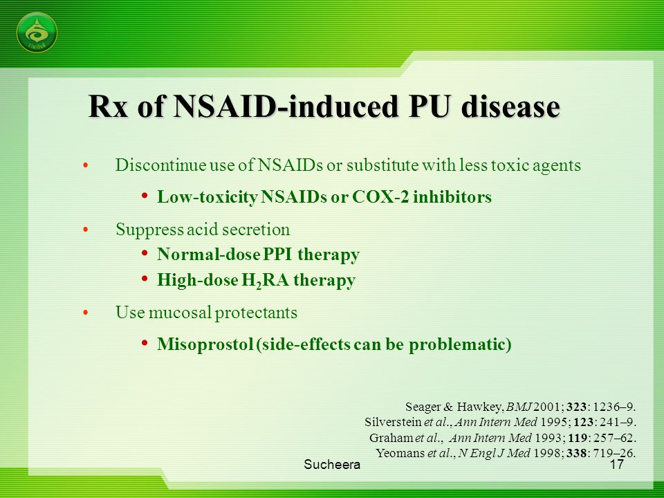 Rx of NSAID-induced PU disease