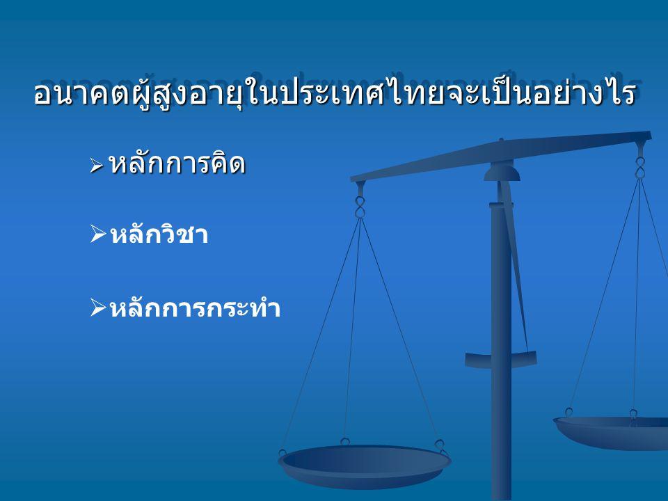 อนาคตผู้สูงอายุในประเทศไทยจะเป็นอย่างไร
