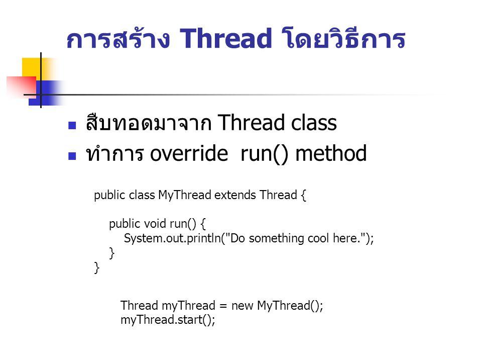 การสร้าง Thread โดยวิธีการ