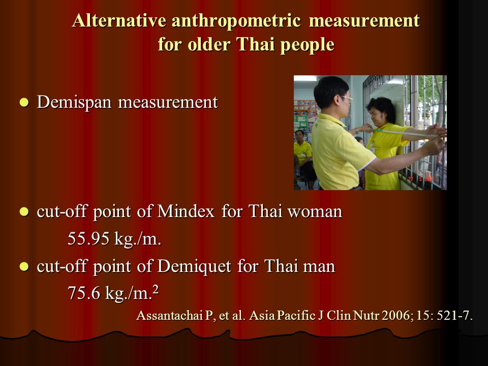 Alternative anthropometric measurement for older Thai people