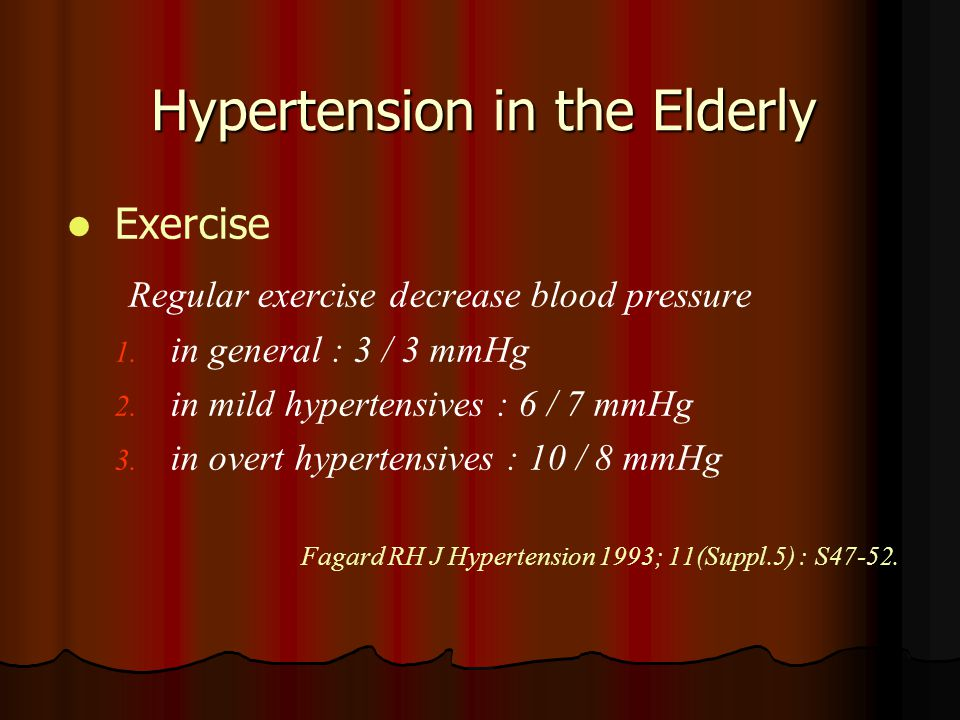 Hypertension in the Elderly