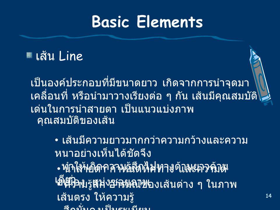 Basic Elements เสน Line