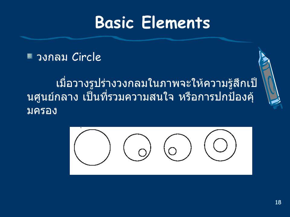 Basic Elements วงกลม Circle
