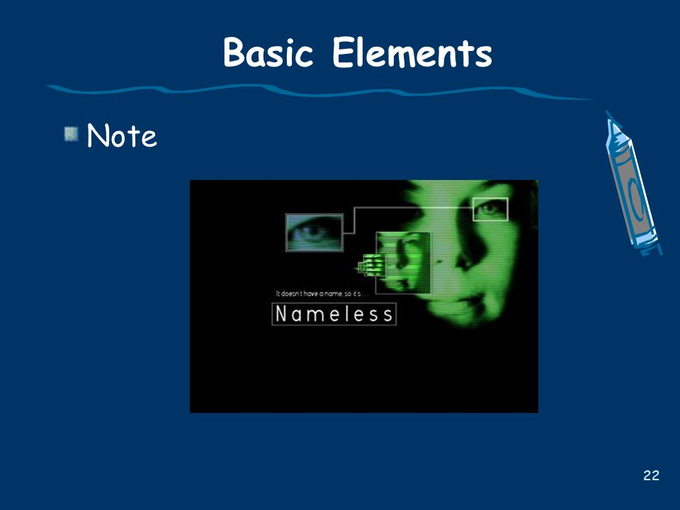 Basic Elements Note