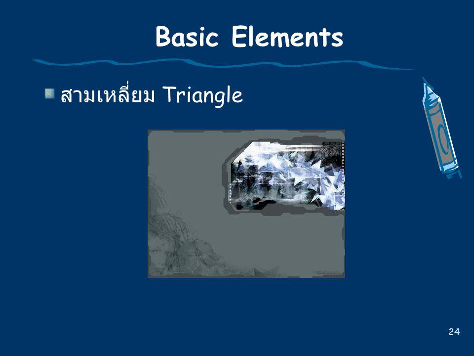 Basic Elements สามเหลี่ยม Triangle