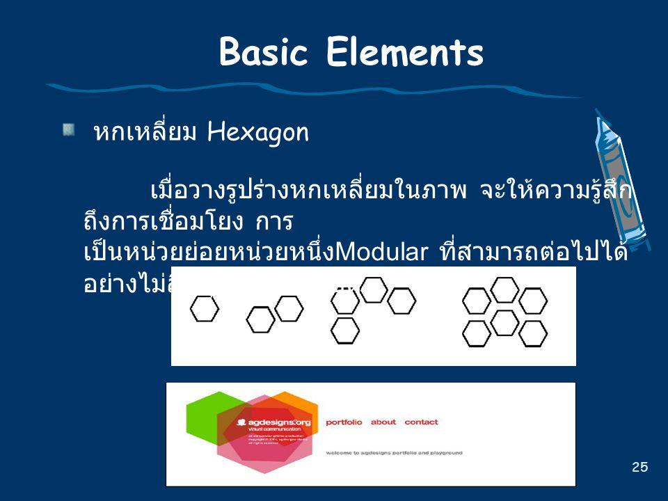Basic Elements หกเหลี่ยม Hexagon