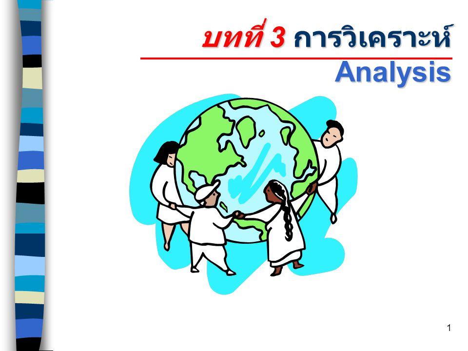 บทที่ 3 การวิเคราะห์ Analysis