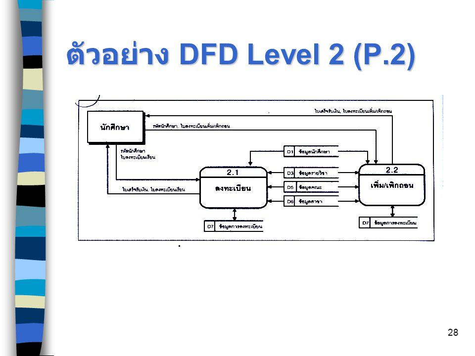 ตัวอย่าง DFD Level 2 (P.2)
