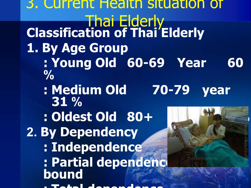 3. Current Health situation of Thai Elderly