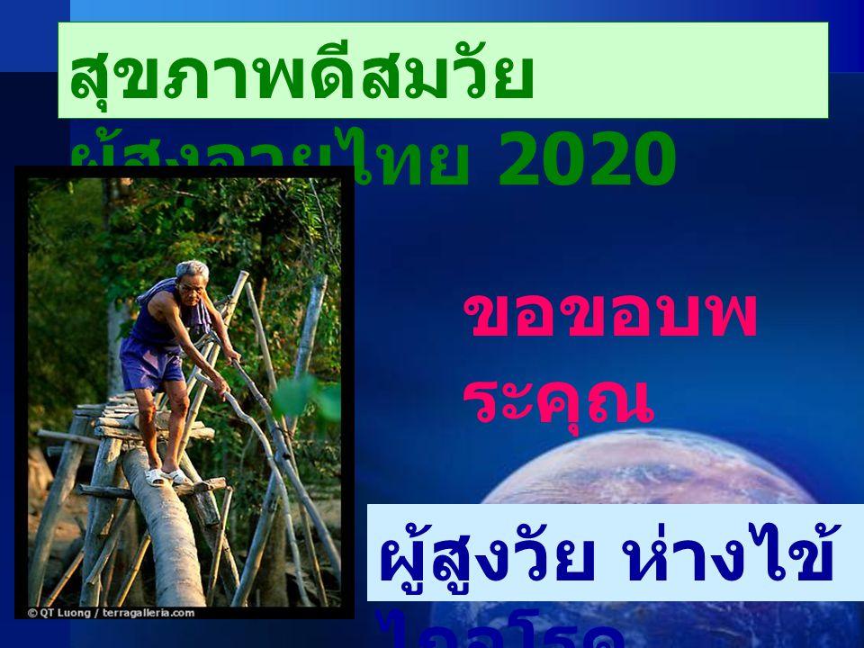 สุขภาพดีสมวัย ผู้สูงอายุไทย 2020